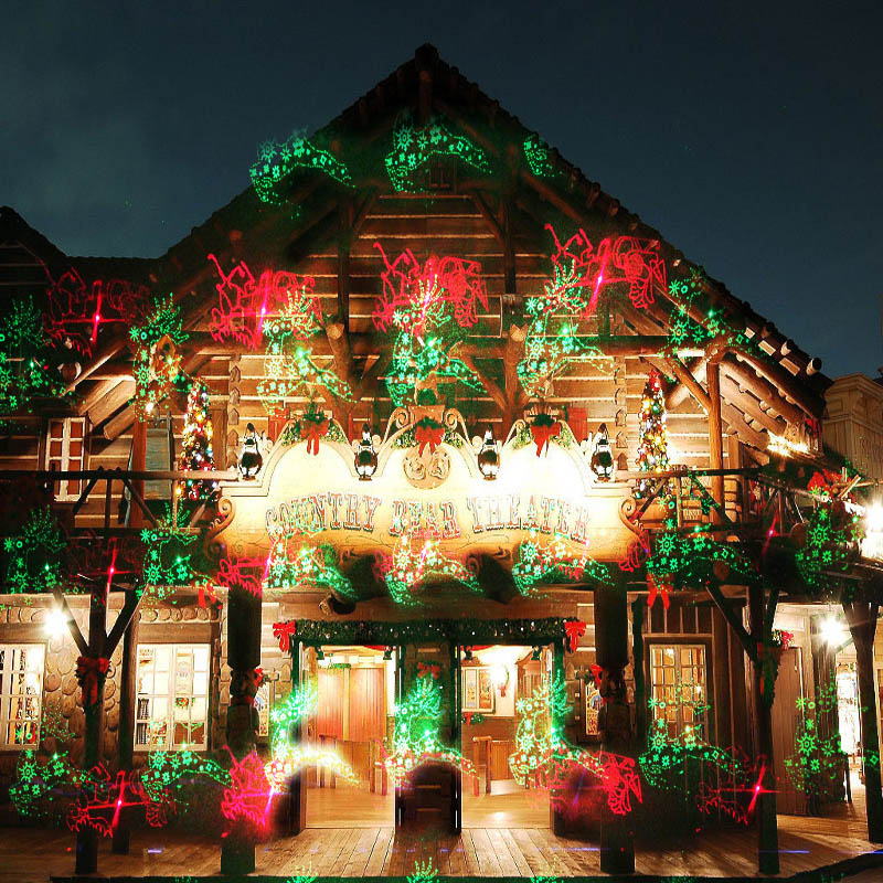 2017 new ip 65 outdoor 16 patterns christmas star projector laser light shower xmas decoration lightredgreen santa snowflake l in stage lighting effect - New Outdoor Christmas Decorations For 2017