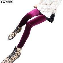 YGYEEG Women Velvet Thick Slim Mid Waist Leggings Autumn Winter Soft High Elastic Kitten Brief Leggins Black Cats Pencil Pants