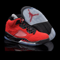 Retro Jordan 5 Mens Basketball Shoes Black Metallic Mens Sneaker Sport Shoes Discount Sneaker