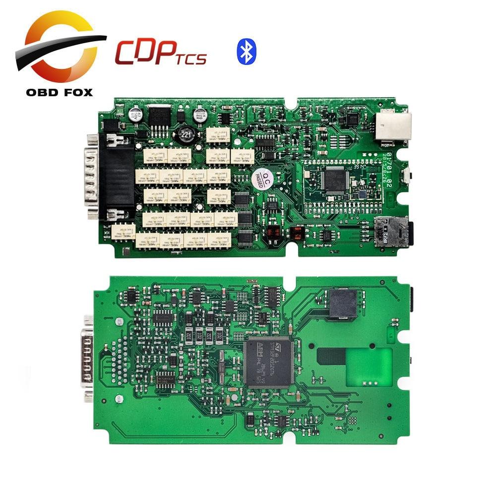Prix pour Unique Vert PCB tcs pro cdp tcs plus multi-langue cdp super avec bluetooth V2015R3 obd2 outil de diagnostic Livraison gratuite