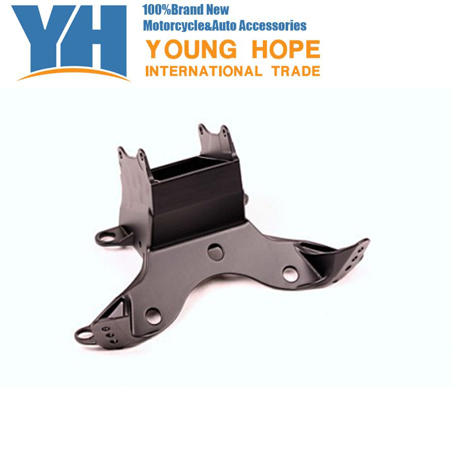 For  Yamaha 2006-2007 YZF R6 Aluminum Upper Fairing Stay Bracket 06 07, Chinese Motorcycle Spare Parts Accessory yamaha pneumatic cl 16mm feeder kw1 m3200 10x feeder for smt chip mounter pick and place machine spare parts