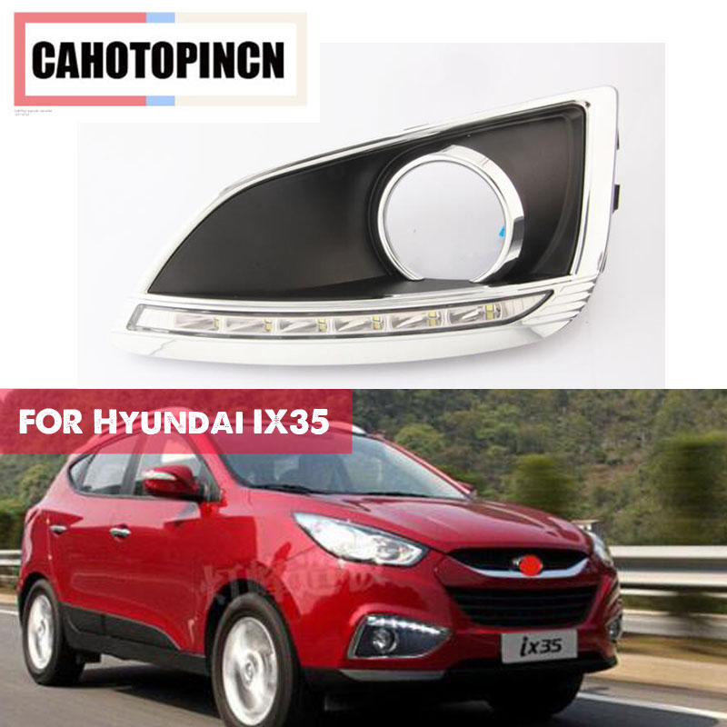For Hyundai IX35 IX 35 2010 2013 LED DRL Daytime Running Light Daylight Waterproof Signal lamp