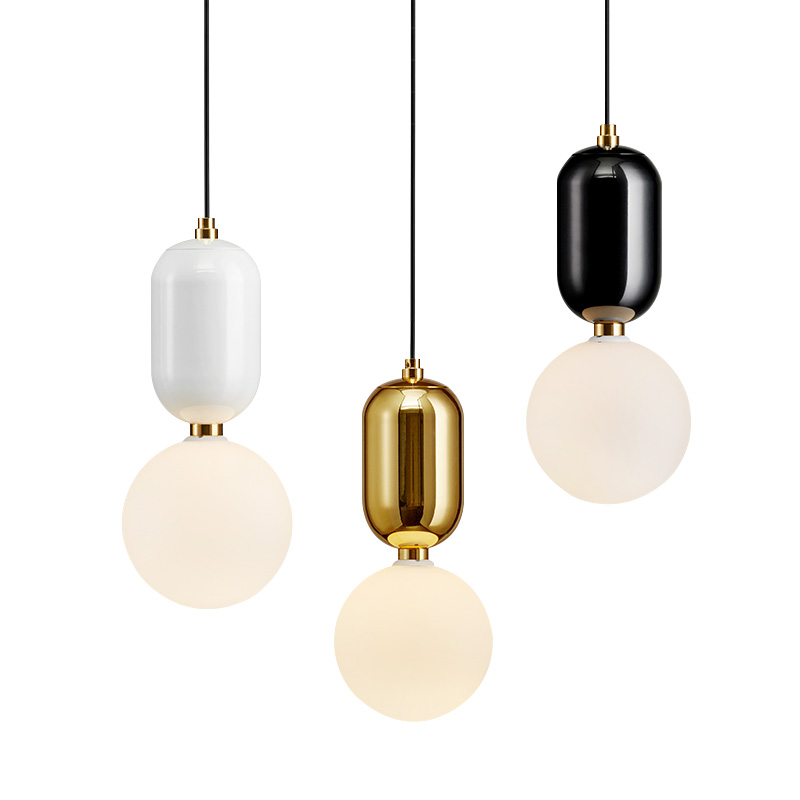 купить Modern Milk LED Globe Glass Pendant Lights Dining Room Bar Restaurant Home Decor Kitchen Room Ball Hanging Pendant Lamp Fixtures по цене 4010.49 рублей