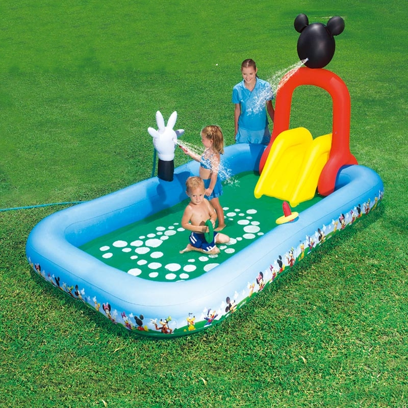 Large Inflatable Pool Toy Big Swimming Pool For Kids Game Home Pvc Water Slide Child Outdoor Summer Pool Slide Fun Bouncer House dia 8m large inflatable swimming pool with dome and trampoline water fun game sports park