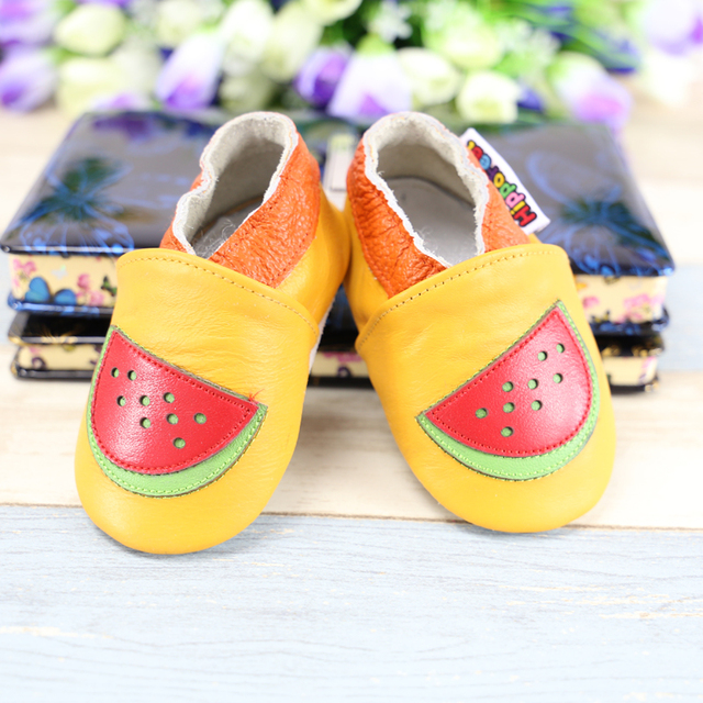 Wholesale Cartoon Animal Baby Shoes Crown princess Bow Genuine Leather Baby Moccasins First Walkers Bebe newborn shoes