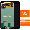 2pcs For Samsung s5 i9600 G900 lcd display screen with home button 100% Guarantee Black white