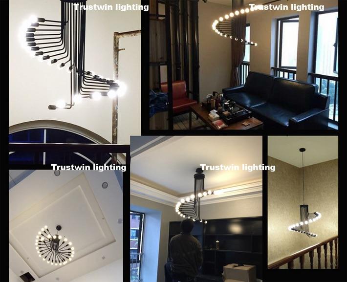 Modern Vintage Loft Pendant Light Iron Spiral Staircase Lamp Drop Light  Fixture Hanging Light Antique American Pendant Lamp In Pendant Lights From  Lights ...