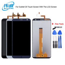 WEICHENG 1280*640 For Oukitel C8 LCD Display+Touch Screen Screen Digitizer Assembly Repair Parts+Tools LCD Glass Panel цена