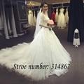 O envio gratuito de Novos Vestidos de Casamento de Luxo Sexy Vestidos Elegantes Do Casamento Trian Vestidos de Casamento vestido de Noiva Vestidos De Novia AM001