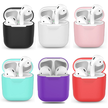 Silicone bluetooth Wireless Earphone Air pods  Case For AirPods Protective Cover Skin Accessories for Apple Airpods Charging Box