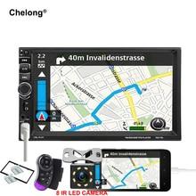 2 автомобиля гама Радио Android телефон Зеркало Ссылка 7 «HD Сенсорный экран монитора автомобиля Мультимедиа Bluetooth FM/MP5 /USB/AUX в 7031TM