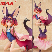 pvc model fantasy no game no life game life angel action figure 13cm doll model toy adult decoration statue limited edition 15cm AQUAMARINE Shiro Game of Life swimsuit style PVC Comic little girl lady doll cartoon anime action figure PVC model toy