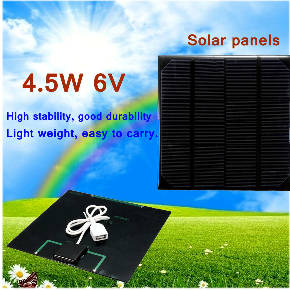 LEORY 4.5W 6V Solar Panel With USB Connection MINI DIY Battery Charger Outdoor Activity Power Bank Solar Cell And System Supply