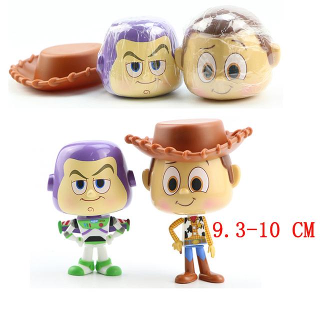 7/9/10/12/17 pcs/set Toy Story 4 Buzz Lightyear Woody Jessie Forky Slinky Dog Lotso Bullseye Horse Figure Toys