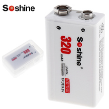 Soshine 320 mAh 9 V 6F22 Batterie LiFePO4 Rechargeable Batterie + Portable Batterie De Stockage Box Case pour Microphone Instrument Compteur