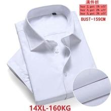 Tamanho grande 10xl 11xl 12xl 13xl 14xl conforto do negócio do escritório de negócios dos homens verão manga curta lapela vestido camisa branca 8xl 9xl