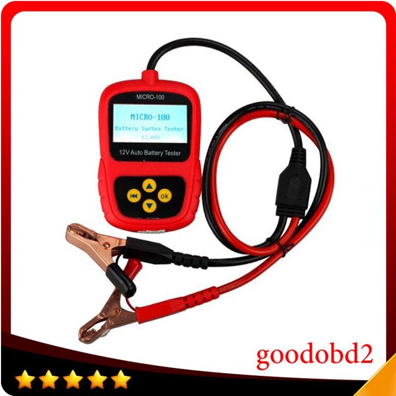 Voiture 12 V testeur de batterie MICRO-100 testeur de batterie numérique Conductance de la batterie et analyseur de système électrique 30-100AH outil de réparation
