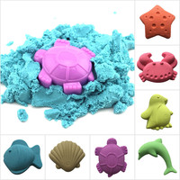 500g Bag Space Sand Colored Clay Sand Children S Toys Colorful Non Toxic Plasticine Modeling Play