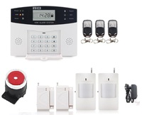 Metal Remote Control Voice Prompt Wireless Door Sensor Security Home GSM Alarm Systems LCD Display Wired