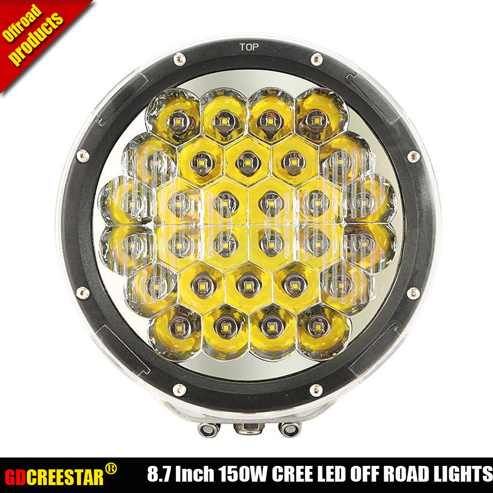 Black 150W led offroad lights 9 Inch Round 150W Led driving lights Red 150W Led work light used for Truck 4WD Car SUV ATV x1pc
