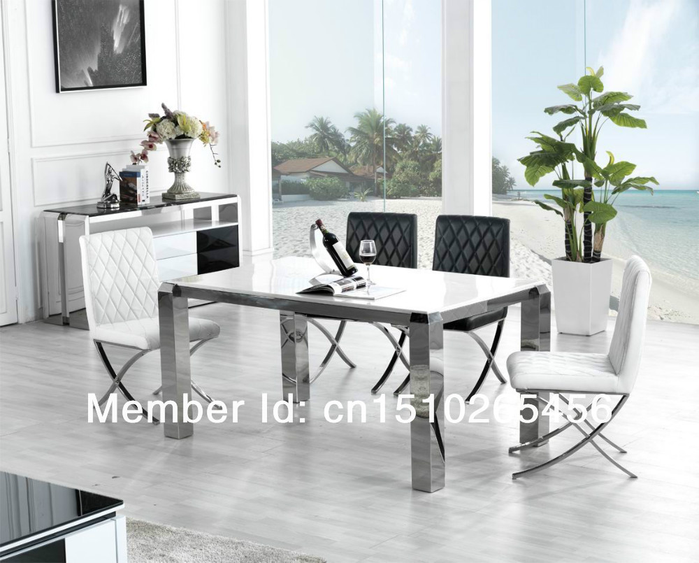 Jie structure hardware stainless steel table marble table for Table 6 kemble inn