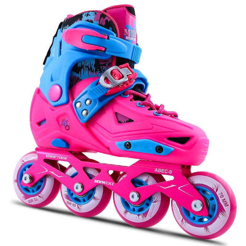 Chaussures de Skate ensemble complet enfants patins à roulettes réglables freins à roues alignées femme chaussures à roulettes