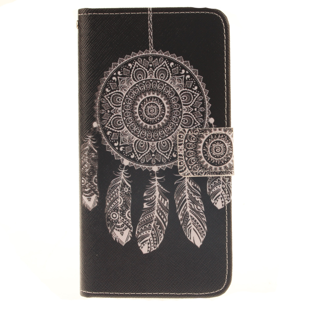 Pu leather case for samsung galaxy a7 2016 a710 peacock feather - 2016 New Arrival Dreamcatcher Painting Flip Pu Leather Case For Samsung Galaxy A3 2016 Version Stand