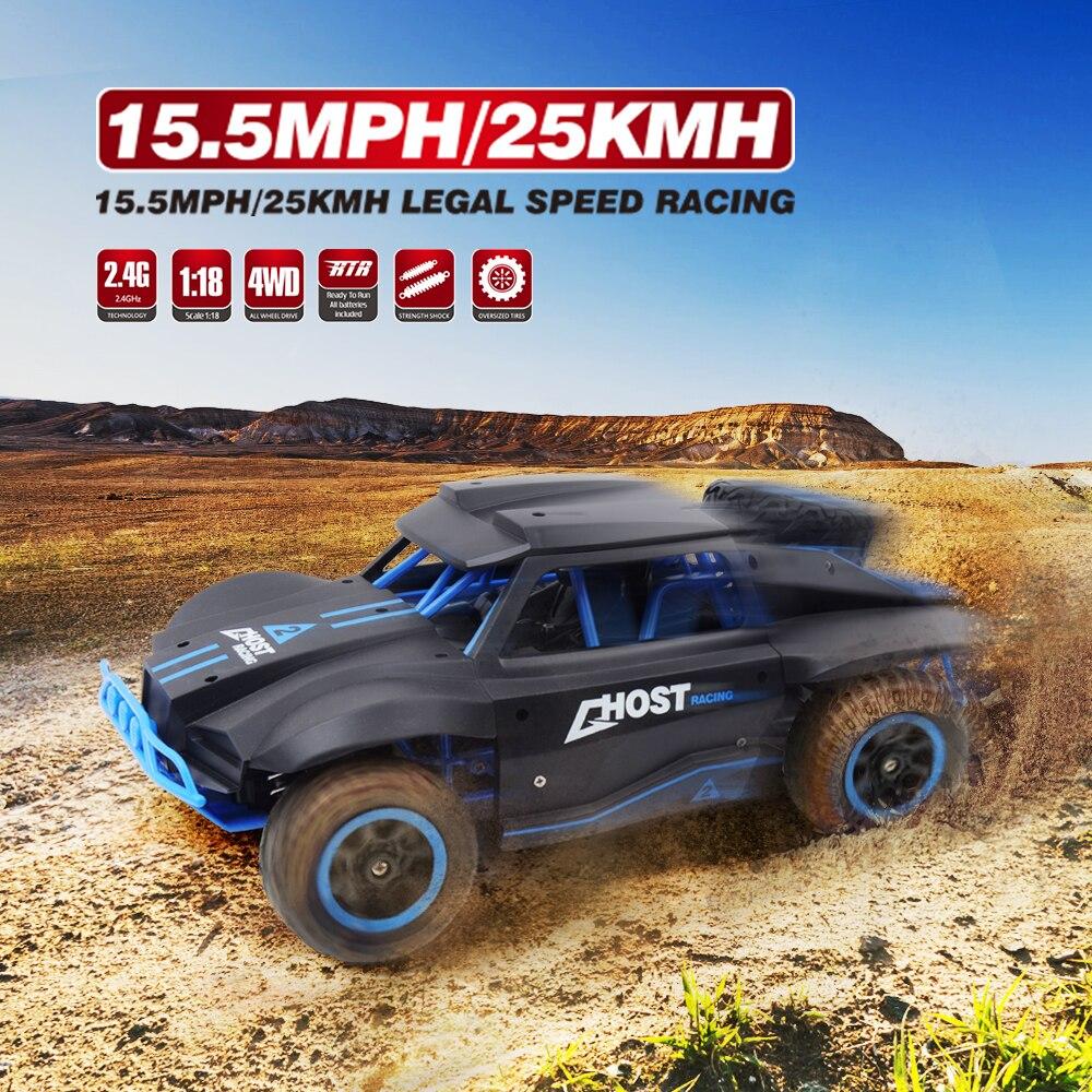 1/18 Rádio Do Carro de Controle Remoto Deriva Carro RC Caminhão Curto 4WD 25 km/h Controlado Máquinas de Alta velocidade Carros De Corrida Brinquedos para Meninos Presente