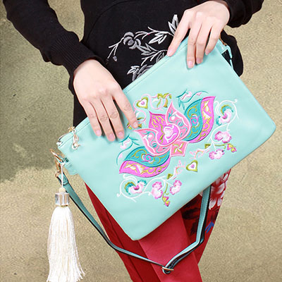 XIYUAN BRAND chinese fashion national vintage pu leather women embroidery bag embroidered handbags ethnic Messenger shoulder Bag xiyuan brand ladies beautiful and high grade imports pu leather national floral embroidery shoulder crossbody bags for women