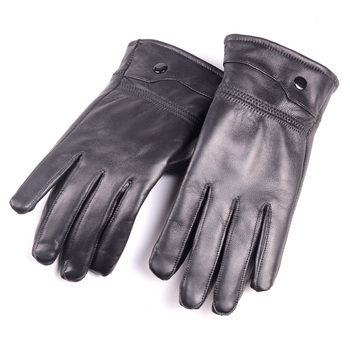 2019 New Men's Real Leather Sheep Skin Winter Warm Thick Lining Gloves women s ladies 100% real leather sheep skin winter warm thick lining white gloves colorful blue cute outdoor short gloves