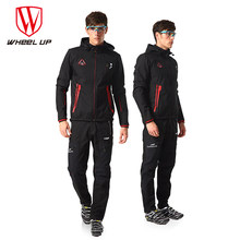 WHEEL UP Winter Cycling Jacket Thermal Fleece Pants Windproof Thickened MTB Bike Coats Bicycle Clothing Jersey Set Clothes Suit(China)