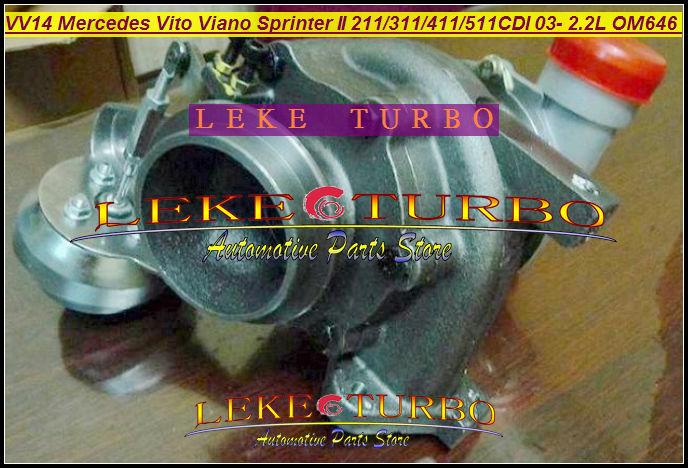 Free Ship RHF4 VV14 VF40A132 6460960699 6460960199 Turbo For Mercedes PKW Vito 111 W639 Viano Sprinter 311 411 511CDI OM646 2.2L free ship rhf4v vv14 vf40a132 6160960199 turbo for mercedes benz pkw vito 115 111 viano sprinter ii om646 de22la 2 2l cdi 150hp