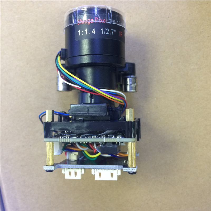 XMeye 2.8-12mm AutoFocu 5.0MP IP Camera,SC5239+<font><b>HI3516D</b></font> CMOS IP Camera Module,IP PCB board image
