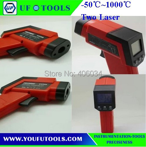 ФОТО UF-8010H Hand-held Portable Digital Double laser Infrared /Mini Infrared Thermometer -50~1000 degree