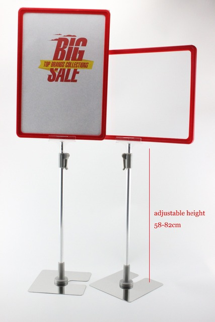 A4 5 Sets Frame With Pop Price Ticket Tag Sign Advertising Poster