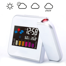 Digital Projection Alarm Clock Weather Station with Temperature Thermometer Humidity Hygrometer/Bedside Wake Up Projector Clock wake up with a stranger bonus edition