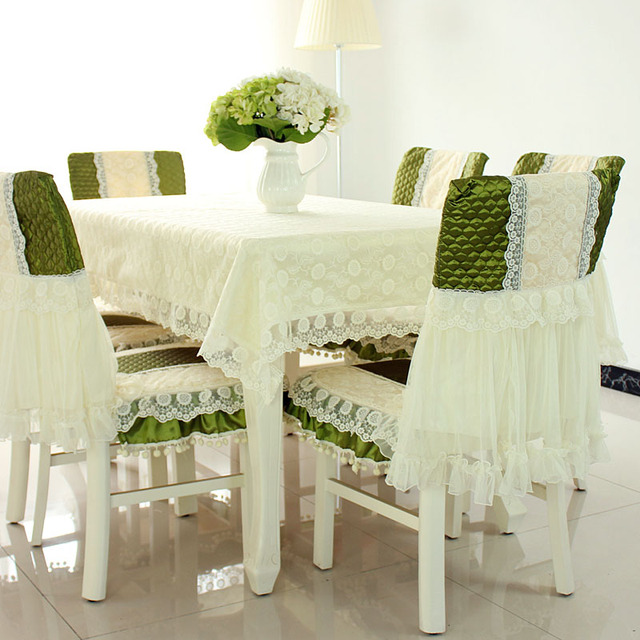 Ordinaire Top Grade Cotton Jacquard Tablecloths Quilting Cloth Chair Covers Cushion Chair  Cover Lace Cloth Set Tablecloths