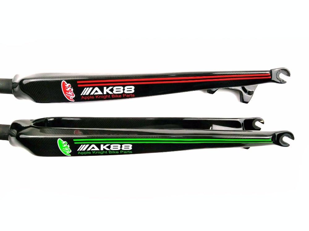 New AK88 full carbon fiber mountain bike parts fork disc fork 26/27.5/29 inch the new package ak88 ferry bike parts full carbon fiber disc brakes fork to buy to send expansion bobbin