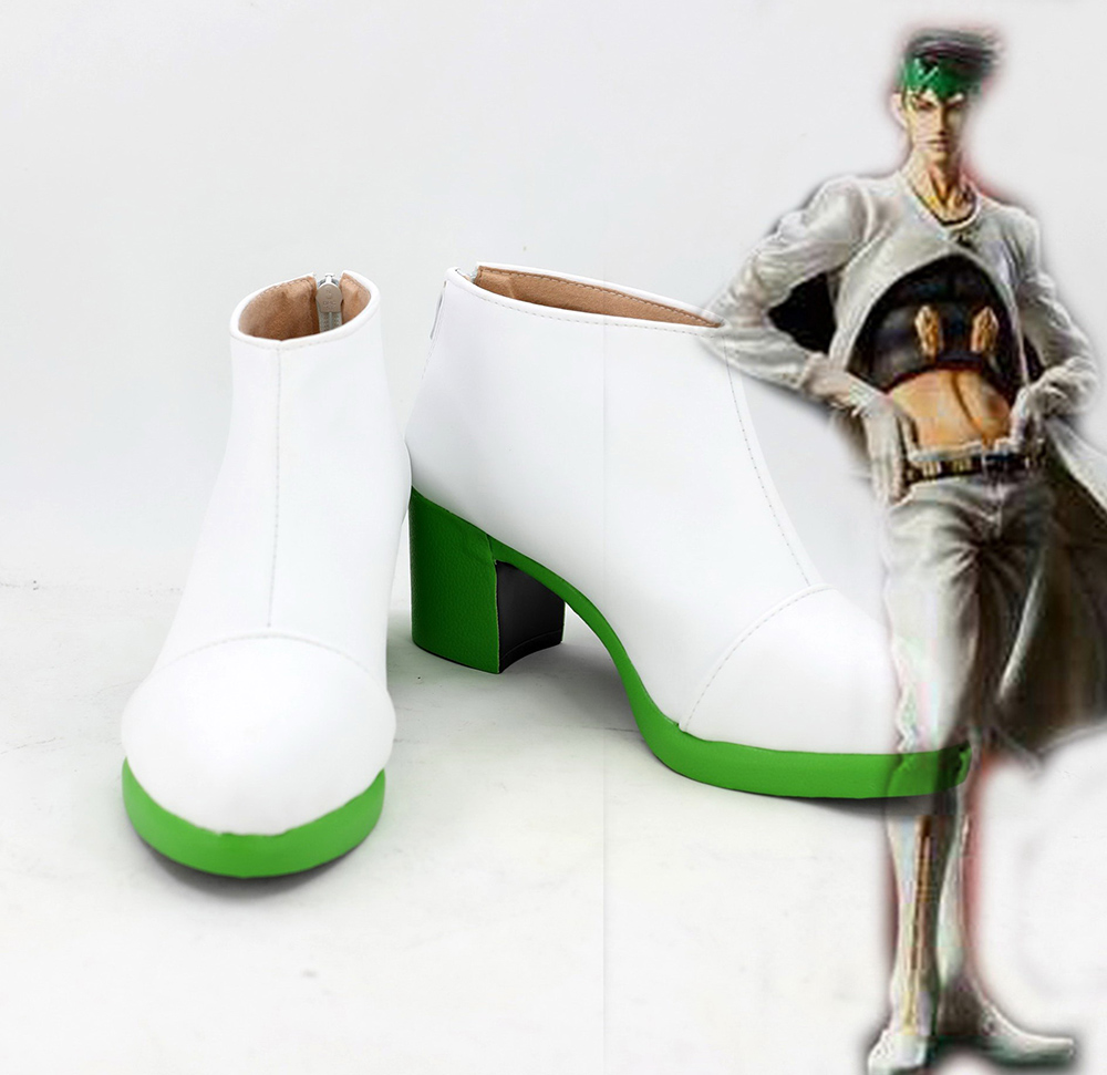 JoJo s Bizarre Adventure Rohan Kishibe High Heel Shoes Boots Cosplay Custom Made