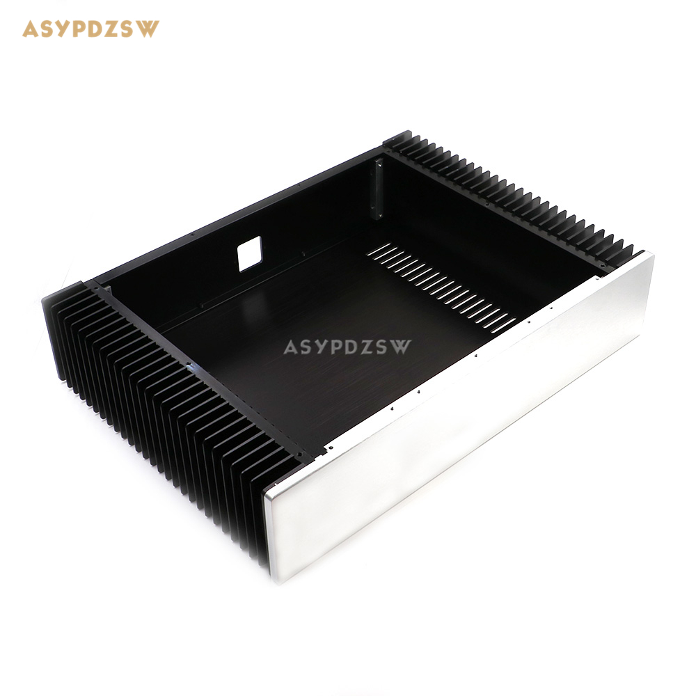 BZ4309 Aluminum Enclosure power amplifier chassis Class A AMP box dual heatsink 430mm*90mm*308mm wa19 aluminum chassis pre amplifier chassis enclosure box 313 425 90mm