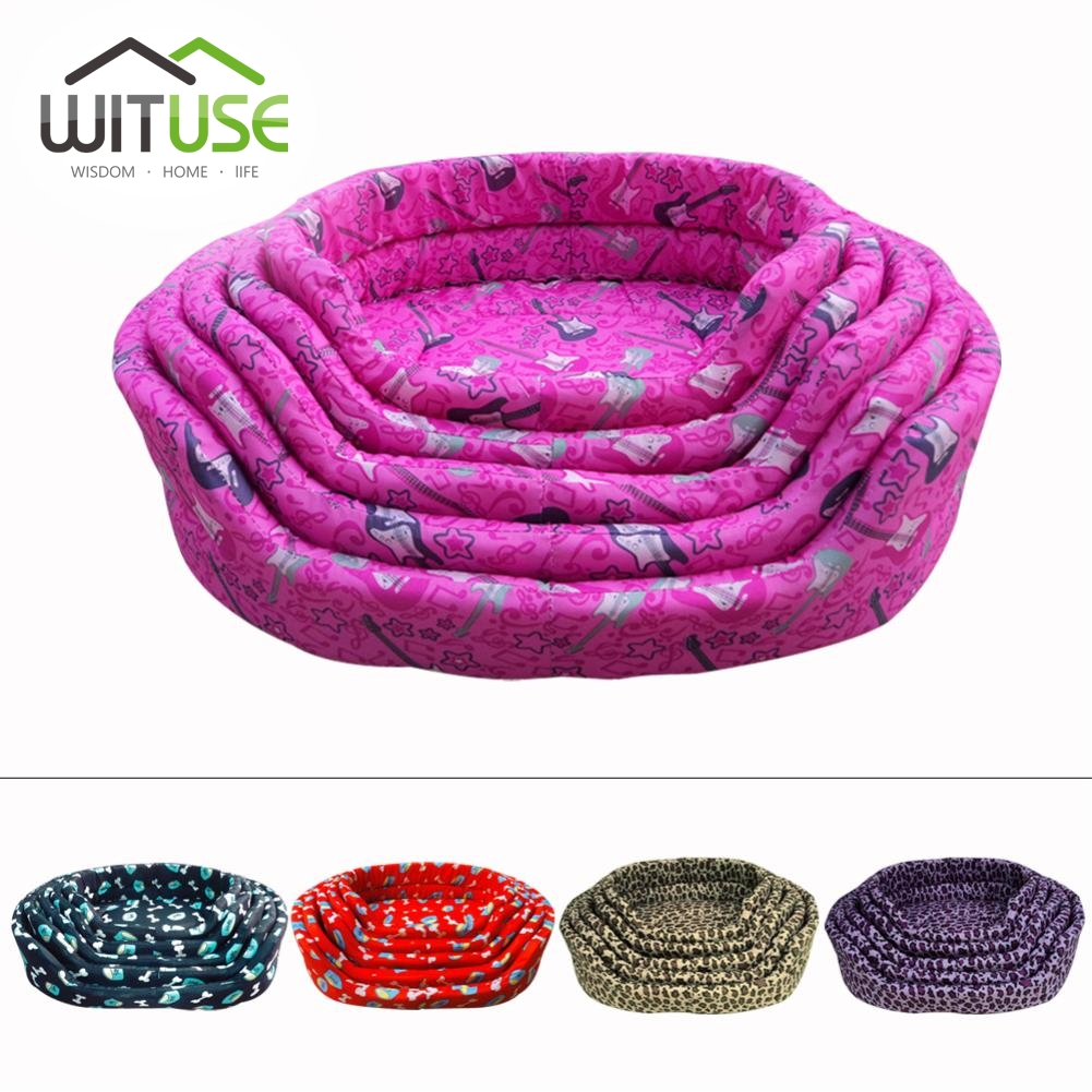 WITUSE LOVELY COMFORTABLE PORTABLE KENNEL WARM PUPPY KITTEN DOG CAT PET BASKET PAD FURNITURE BED MAT CUSHION 5COLORS