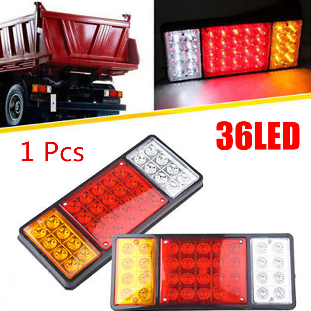 1Pcs Signal Light Tail Lights Warning Lights Automobile Replacement Truck Tail Lights Universal Super Bright 36LED Reverse Lamps
