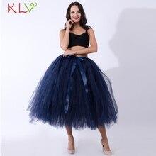 Женские юбки-пачки Rok Dames, пышные синие белые тюлевые длинные сексуальные юбки для взрослых, высокая Империя Faldas Mujer Moda De Verano 18Jan16