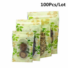 100 Pcs/Lot OPP Poly Ziplock Zip Zipped Lock  Thickness Bag Reclosable Clear Transparent Jewelry Craft Accessories