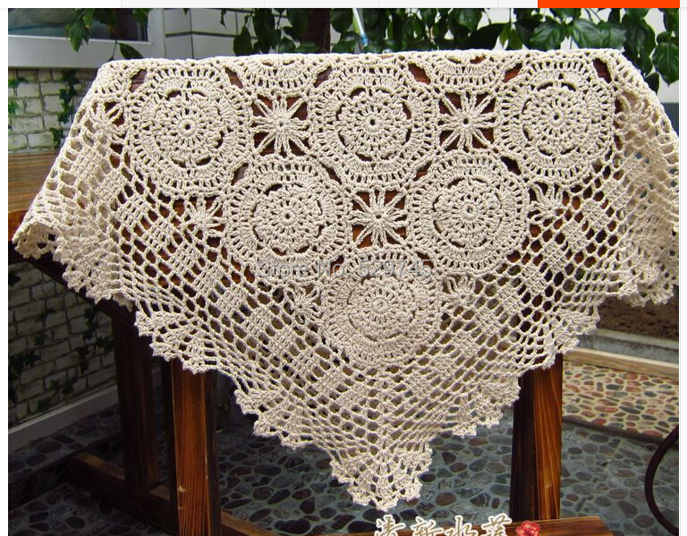 Order: 5 Pieces. Free Shipping 2014 Hot Handmade Crochet Flowers Woven  Cotton Towel Sofa Cover Cloth Square Tablecloth Doilies