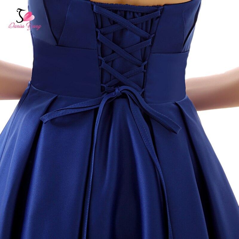 c28f4f97b Robe De Soiree Satinado Vestido de Noche Corto Azul Banquete de Gala  Vestido Formal 2017 Vestido De Festa en Vestidos de noche de Bodas y  eventos en ...