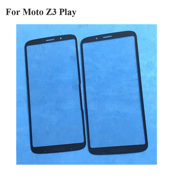 For Moto Z3 Play Front LCD Glass Lens touchscreen Z3Play Z 3 Play XT1929 Touch screen Panel Outer Screen Glass without flex