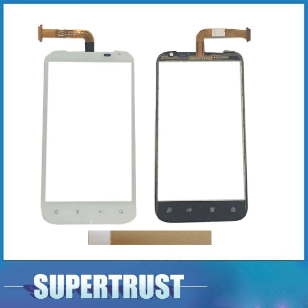 High Quality 4.7 inch For HTC G21 Sensation XL Touch Screen Digitizer Front Glass Lens Sensor Panel Black White Color with tape
