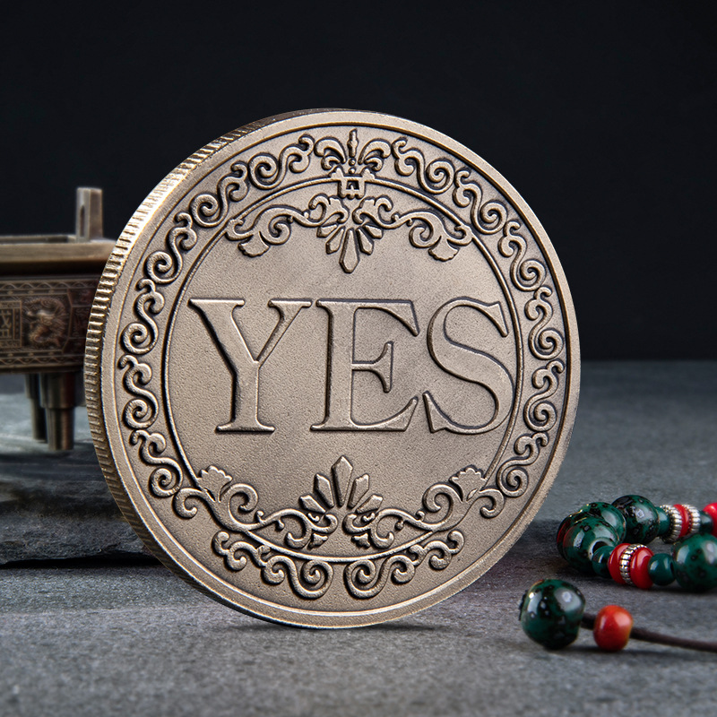 YES Or NO Commemorative Coin Floral YES NO Letter Ornaments Collection Arts Gifts Souvenir 2019 New