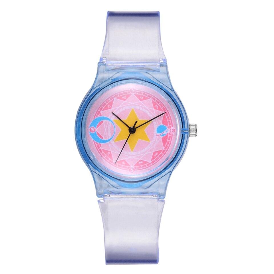 Ladies Fashion Watches For Women Cartoon Dial Transparent Strap Bracelet Quartz Clock Reloj Mujer Relogio Feminino